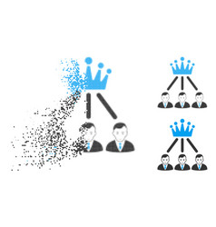 Dust dot halftone hierarchy men icon with face vector