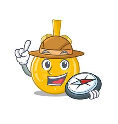 Explorer christmas ball gold on a character vector
