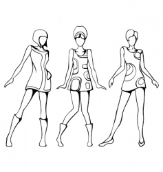 fashion illustration vector image