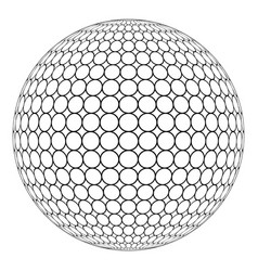 Globe 3d sphere with ring mesh on the surface vector