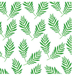Green palm branch frond decoration pattern vector