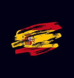 Grunge textured spanish flag vector
