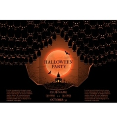 Halloween party booklet vector image
