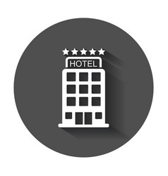 Hotel icon simple flat pictogram for business vector