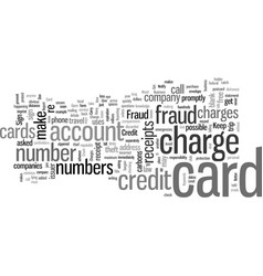 How to avoid credit and charge card fraud vector