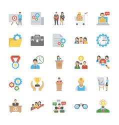 Human resource flat icons set vector