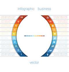 infographic strips and semicircle 10 vector image