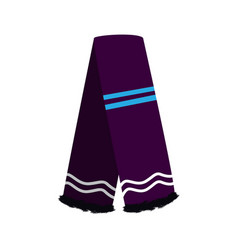 Isolated winter scarf vector