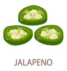 Jalapeno icon isometric style vector