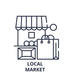 Local market line icon concept local market vector