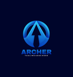 logo archer gradient colorful style vector image