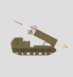 missile vehicle rocket artillery vector image