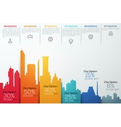 Modern infographic option banner with colorful vector