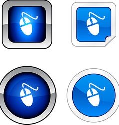 Mouse button set vector
