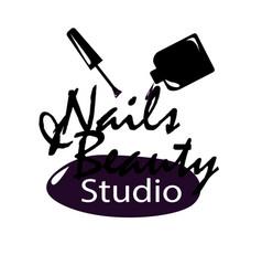 Nail studio logo vector