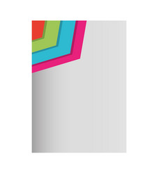 paper sheet with lines colored vector image