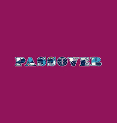 Passover concept word art vector