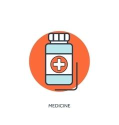 Pills and antibiotics medical vector