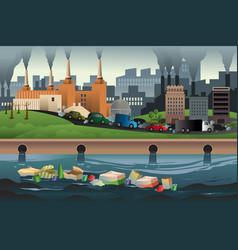 Pollution concept vector