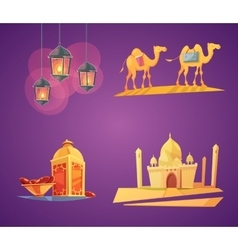 Ramadan Cartoon Icons vector image