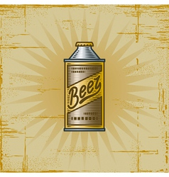 Retro Beer Can vector image