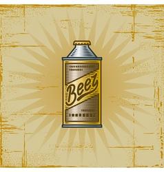Retro beer can vector