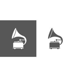 retro gramophone icon template color editable vector image