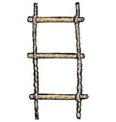 rope-ladder vector image