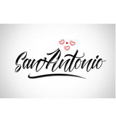 San antonio city design typography with red heart vector