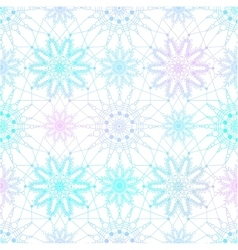 Seamless pattern with blue snowflakes on white vector image