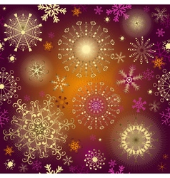 Seamless purple gradient christmas pattern vector