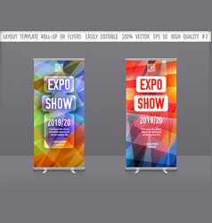 set of template layout roll up or flyer vector image