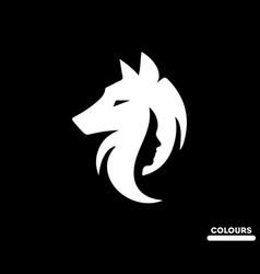 She wolf vector