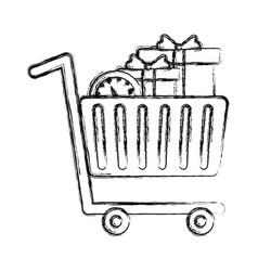 Shopping cart design vector
