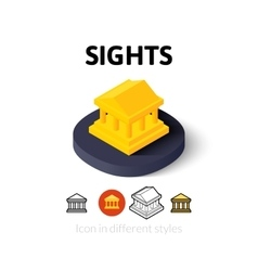 Sights icon in different style vector