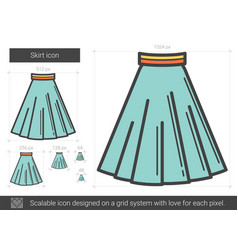 Skirt line icon vector