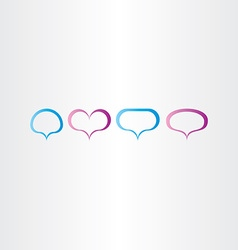 speech bubbles frame set vector image