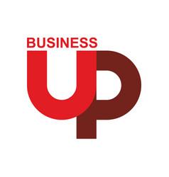 Start up logo up arrow emblem starting business vector
