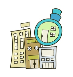 The town vector image