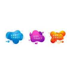 trendy fluid liquid design collection vector image