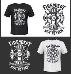 tshirt print with hydrant apparel mockup vector image