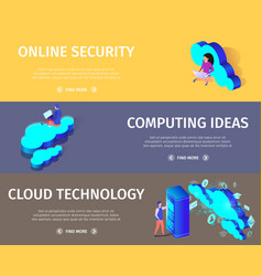 web cloud technology and networking concept vector image