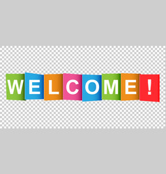 Welcome tag market message flat on white vector