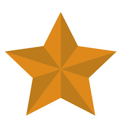 Yellow star on white backgorund flat style star vector