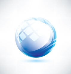 blue glossy circle abstract shape vector image