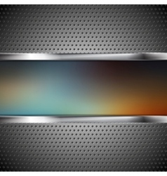 Blurred banner and perforated metal texture vector image vector image