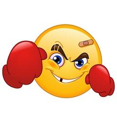 boxer emoticon vector image vector image