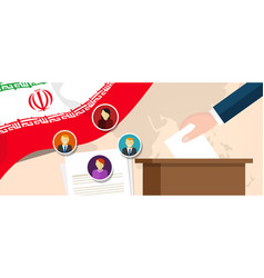iran democracy political process selecting vector image vector image