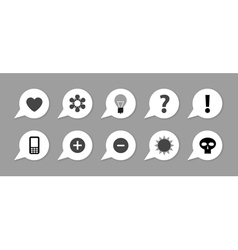 Labels with symbols vector image
