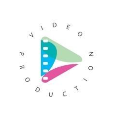 logo abstract play button vector image
